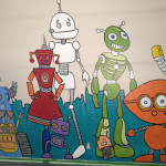 Robot Mural Close Up